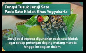 Fungsi Tusuk Jeruji Sate Pada Sate Klatak Khas Yogyakarta
